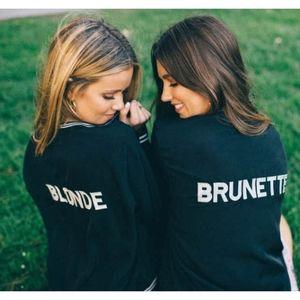 SHOW ME YOUR MUMU Brunette Bomber Varsity Jacket